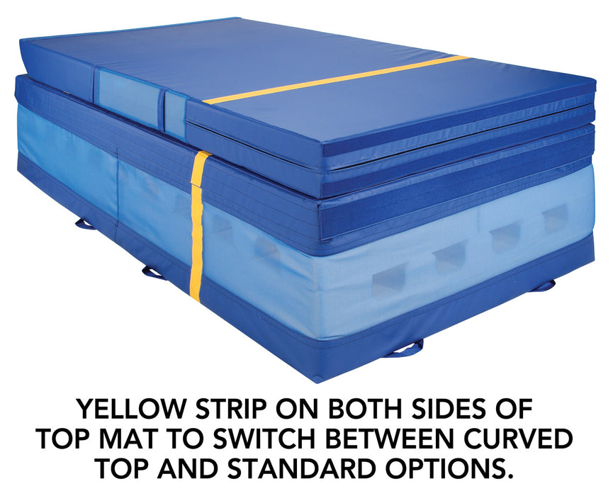 "Norberts VS-220 Level 3 Curved Top 2 Piece System - 8"" Mat with 24"" Pit Base Gymnastics Vault"