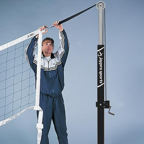 JayPro Flex Volleyball Net 32′ and 35′ Uprights