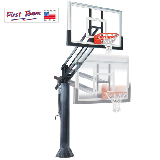 First Team Force In Ground Adjustable Basketball Goal