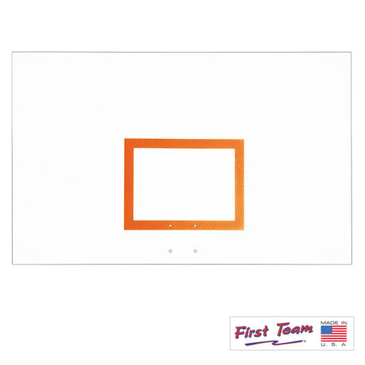 "First Team FT265B 42"" x 72"" Steel Basketball Backboard with Brackets"