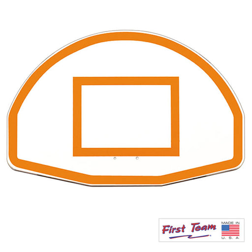 "First Team FT270 36"" x 54"" Fan-Shaped Aluminum Basketball Backboard"