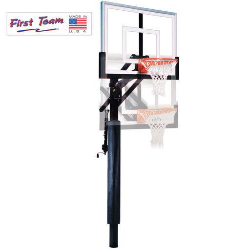 First Team Jam In Ground Adjustable Basketball Goal