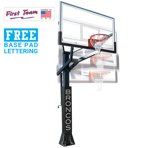 First Team PowerHouse 6 In Ground Adjustable Basketball Goal