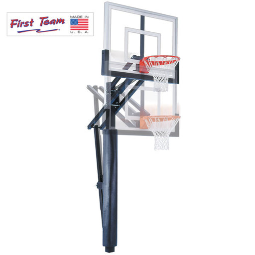 First Team Slam In Ground Adjustable Basketball Goal