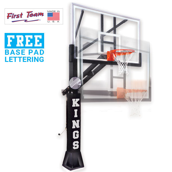 First Team Stainless Olympian Adjustable Basketball Goal
