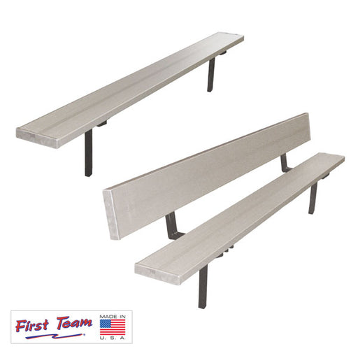 First Team Teammate Fixed Outdoor Player Benches