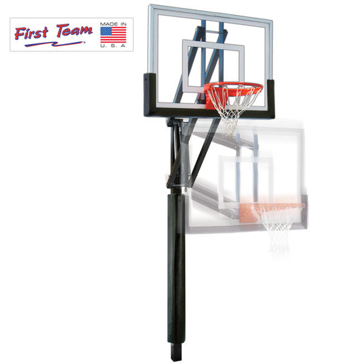 First Team Vector BP In Ground Adjustable Basketball Goal