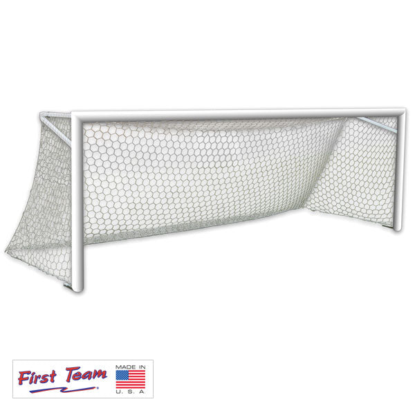 First Team World Class 40 Round Aluminum Permanent Soccer Goal