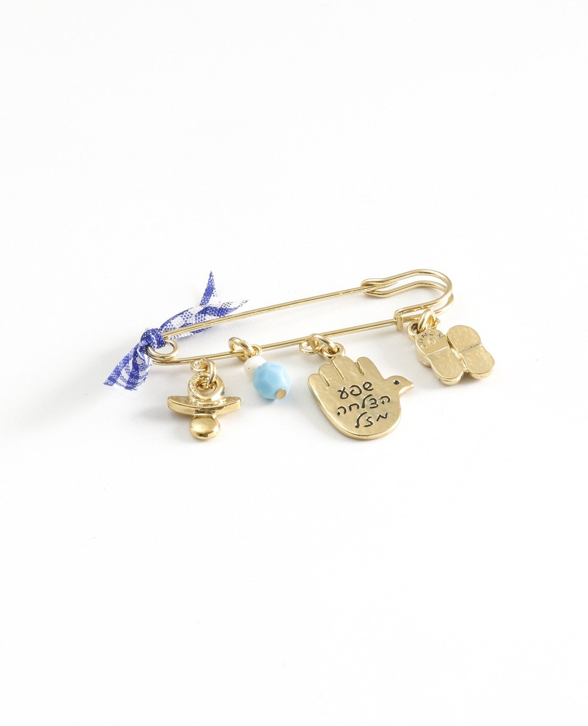 Baby Boy pin with cute elements, 24k gold plated.  Length: 4 cm  Width: 5 cm