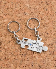 Puzzle Keychain Pair