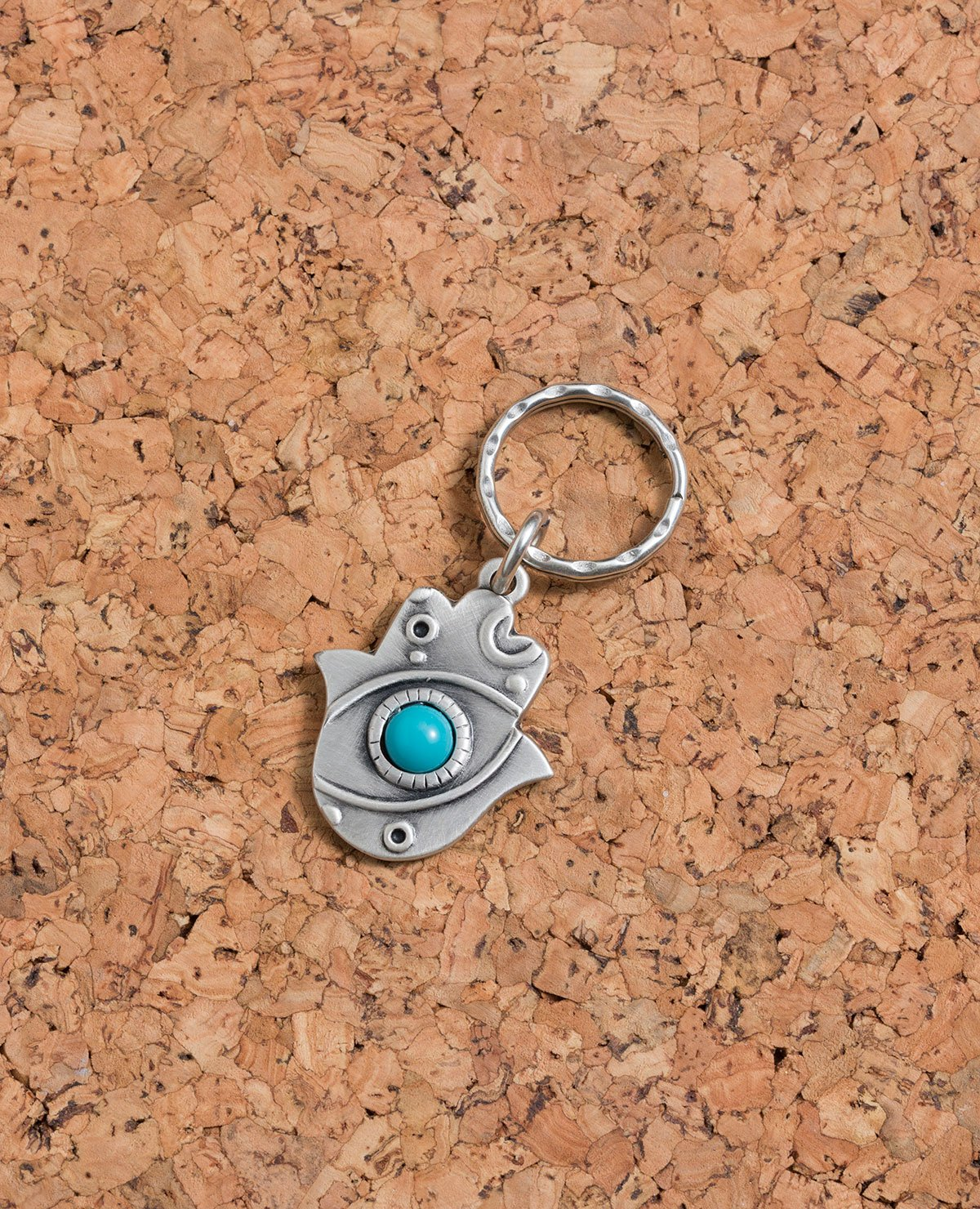 """Thank You"" Hamsa Keychain"