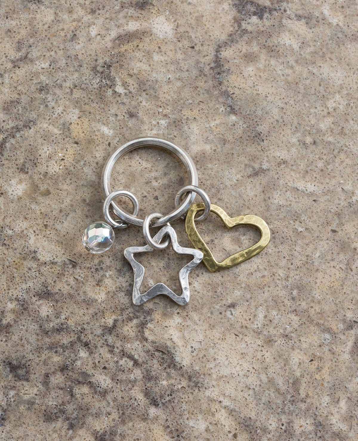 Heart and Star Keychain