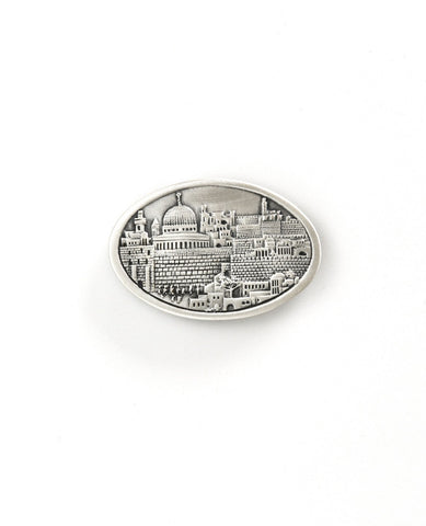 Oval magnet with Jerusalm  Length: 3 cm  Width: 5 cm