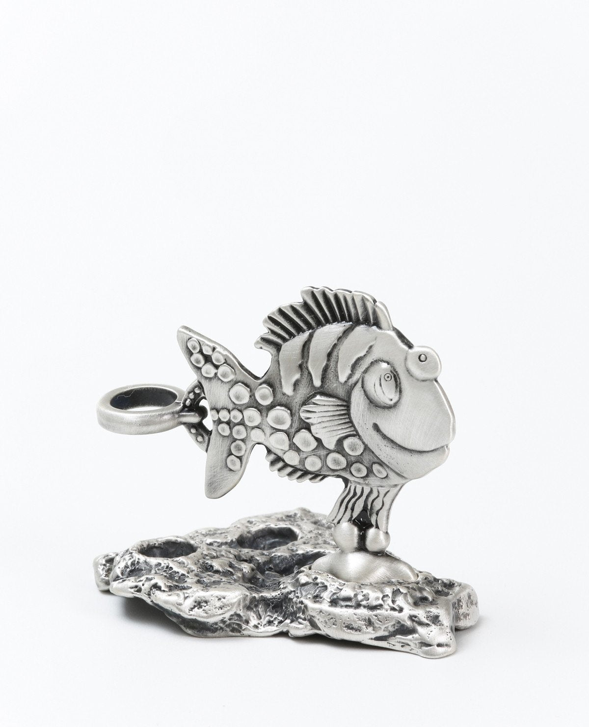 Sterling silver pen stand  Length: 7 cm  Width: 7 cm