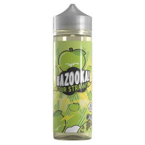 Bazooka Sour Straws eJuice - Green Apple Sour Straws