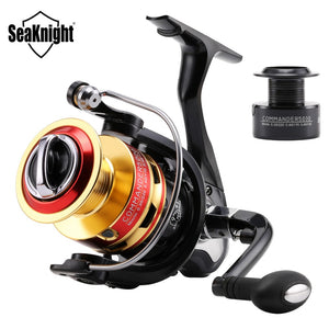 SeaKnight 5.2:1/4.7:1 COMMANDER2000 3000 4000 5000 Spinning Fishing Reel 10BB Spinning Wheel Fishing Tackle +1P Free Spare Spool