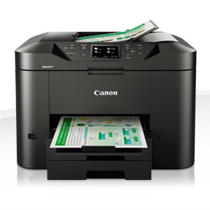 Canon Maxify MB2740 Print/Copy/Fax/Scan, 24 ipm mono, 15.5 ipm col, 500 sheet handling, 50 Sheet ADF, Auto Duplex, USB, WiFi, Ethernet
