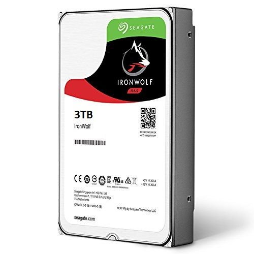 Seagate 3TB 3.5 IronWolf NAS HDD 64MB Cache