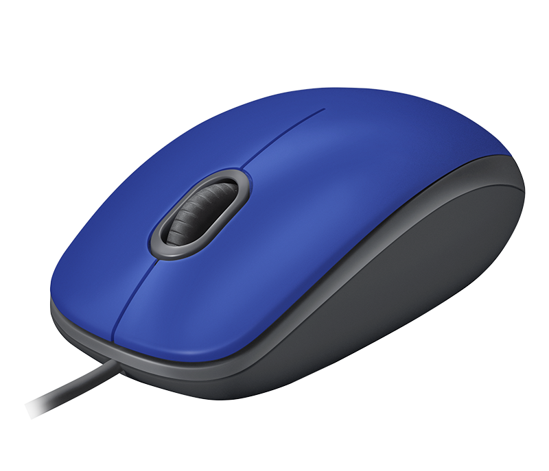 Logitech M110 Wired Mouse - Blue
