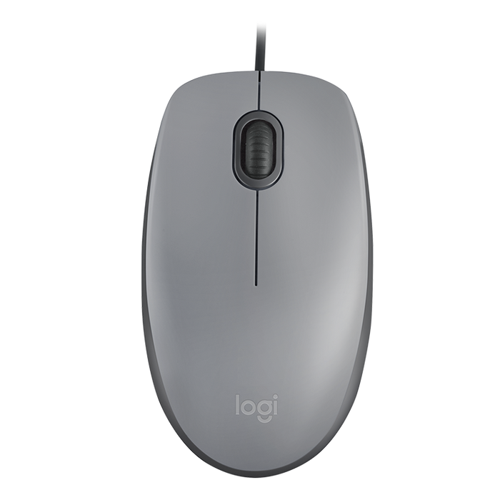 Logitech M110 Silent Wired Mouse - Grey