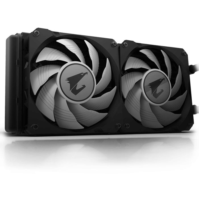 Aorus Liquid Cooler 240; All In One Liquid Cooler With Circular Lcd Display; Rgb Fusion 2.0; Dual 120mm Argb Fans