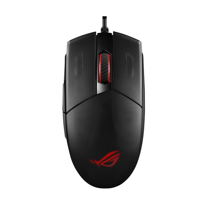 Rog Strix Impact II Ambidextrous; Ergonomic Gaming Mouse Featuring 6200 Dpi Optical Sensor; Lightweight Design And Aura Sync Rgb