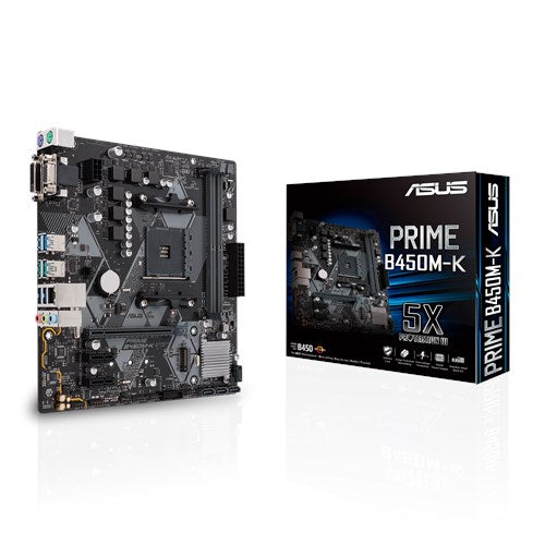 Asus AMD AM4 B450 mATX Motherboard with LED lighting, DDR4 3466MHz, M.2,  SATA 6Gbps, USB 3.1 Gen 2