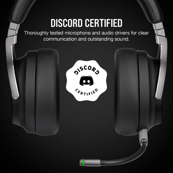 Corsair Virtuoso Rgb Wireless High Fidelity Gaming Headset; 7.1; Carbon