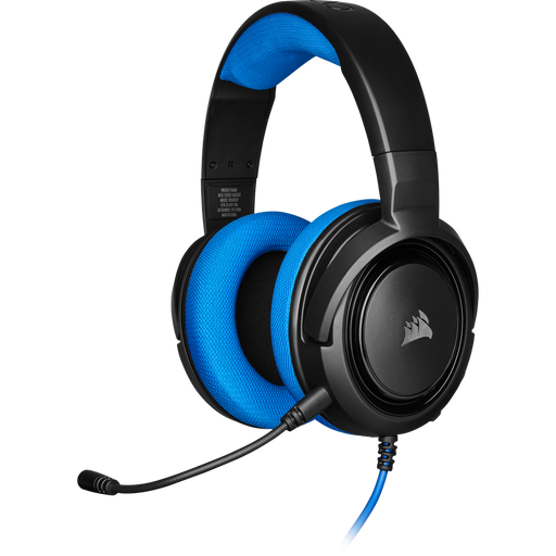 Corsair HS35 Stereo Gaming Headset, Blue, Multi Platform Compatibility