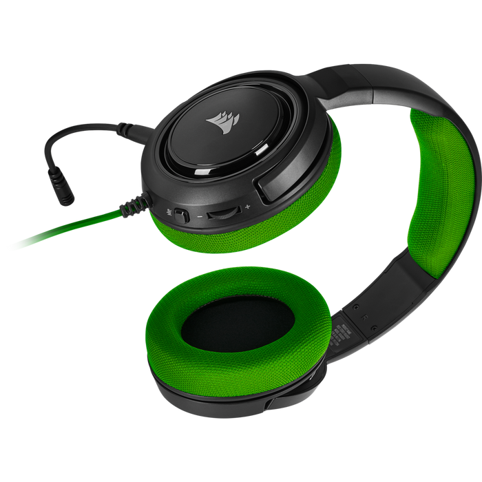 Corsair HS35 Stereo Gaming Headset, Green Multi Platform Compatibility