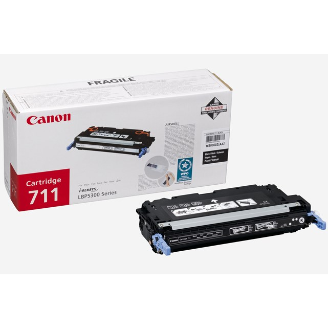 Canon 711 Black Cartridge 6000 Pages @ 5%