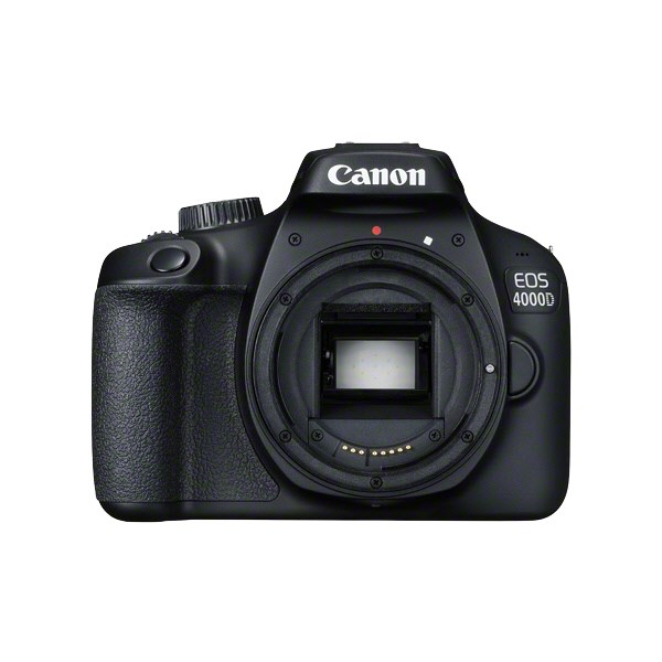 Canon Eos 4000D Body; Eyecup Ef; Camera Cover RF3; Camera Strap Ew400D; Battery Pack LpE10; Battery Charger LcE10E