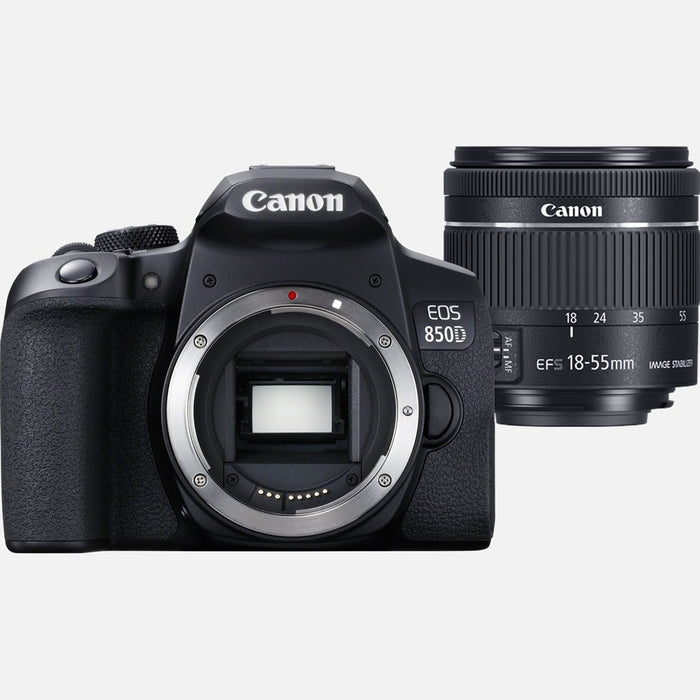 Canon Eos 850 D Body ; Ef S 18 55 F4 5.6 Is Stm Lens ; Eyecup Ef; Body Cap; Neckstrap;Lc E17 E Charger ;Lp E17 Batt;Power Cable