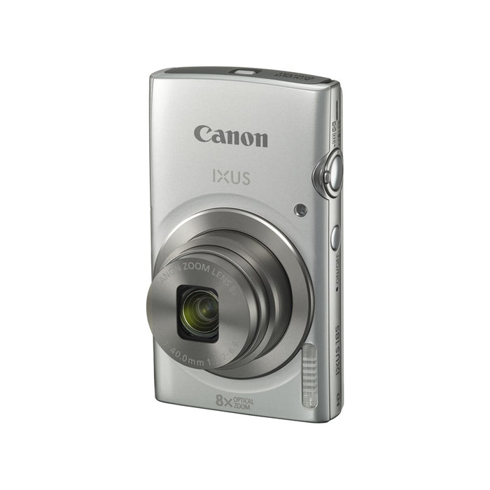 CANON IXUS 185 SILVER - 20MP; 8x Optical Zoom; 16x ZoomPlus; Digic 4+;  HD; Battery NB-11L; Charger CB-2LFE