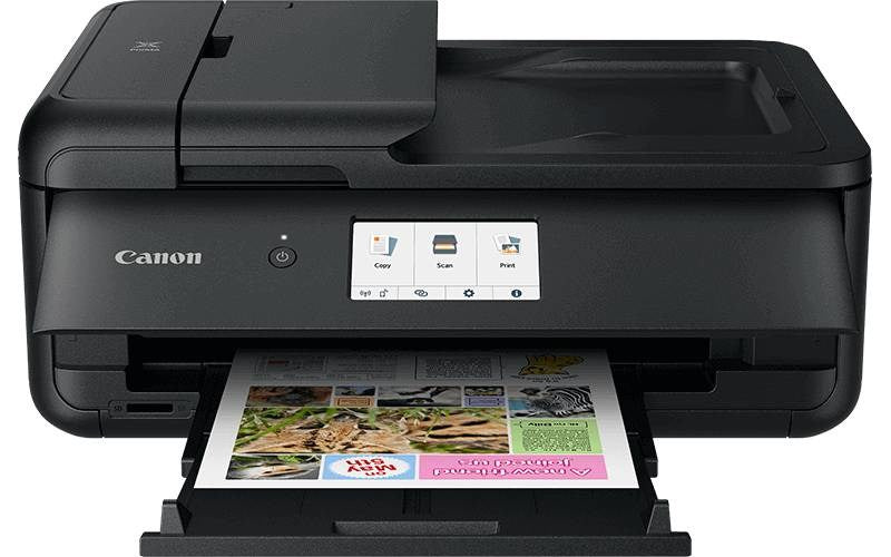 Canon Pixma TS9540 - A3 Print; Copy; Fax and Scan, Can print A3; copy A4/stitch copy A3, 15ipm mono; 10ipm col; 4800x1200
