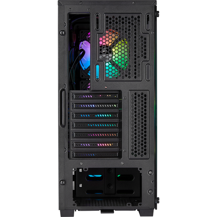 Corsair iCue 220T Rgb Airflow Tempered Glass Mid Tower Smart Case; Black