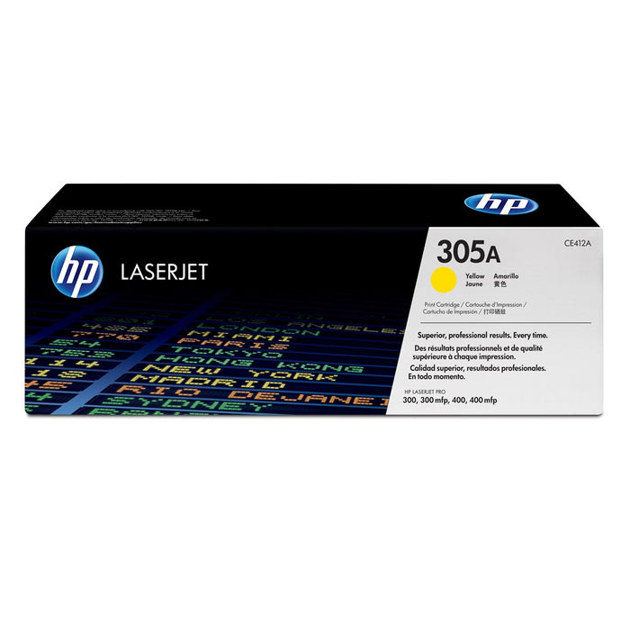 Hp305A Yellow Original Laser Jet Toner Cartridge, 2 600 Pages