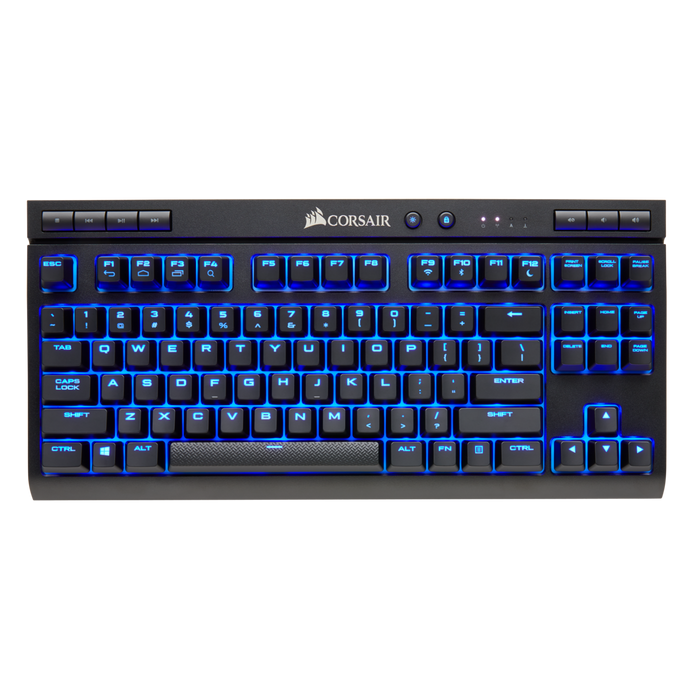 Corsair K63 Wireless Mechanical Gaming Keyboard, Cherry MX Blue, BLUE LED Backlight