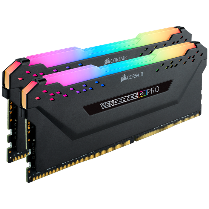 Corsair 16GB DDR4, 2666MHZ, Vengeance RGB Pro, Dual Kit, RGB LED, Black Heatspreader