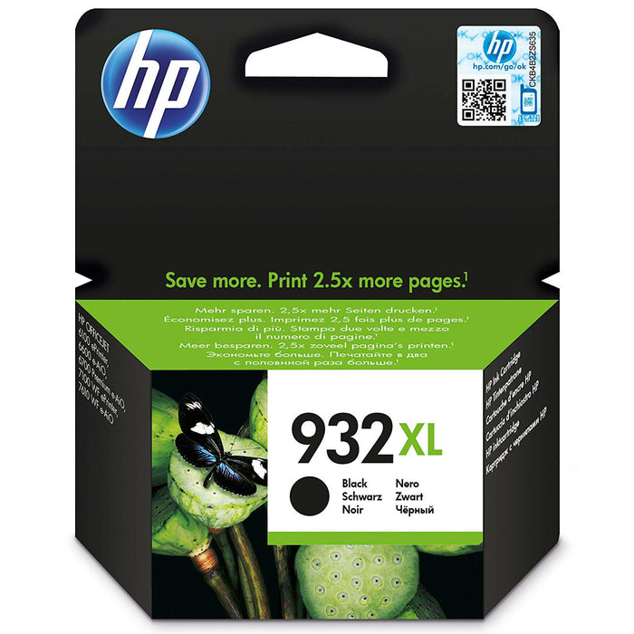 HP 932XL High Yield Black Original Ink Cartridge, ~1000 Pages (Office Jet 6700 Premium All In One)