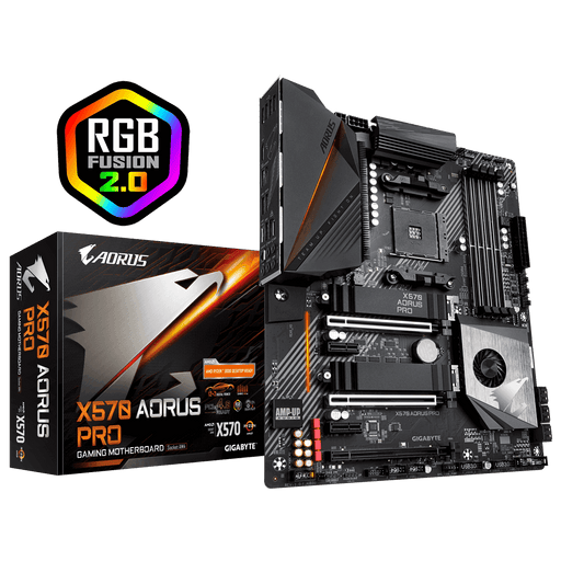 Gigabyte Aorus AMD X570 Pro Chipset For AMD Ryzen With Vega Graphics, 2xDual DDR4, 2x M2, HDMI, ATX, Quad Xfire/Quad Sli