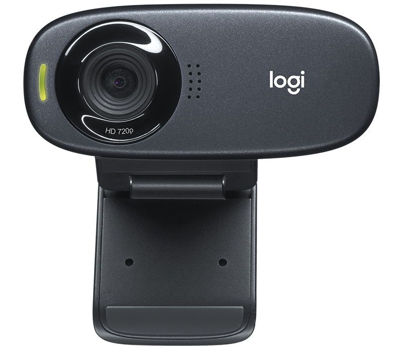 Logitech Webcam C310 HD, 5MP Still, HD 720p Video, Fluid Crystal Tech, Logitech Video Effects Fun Filters