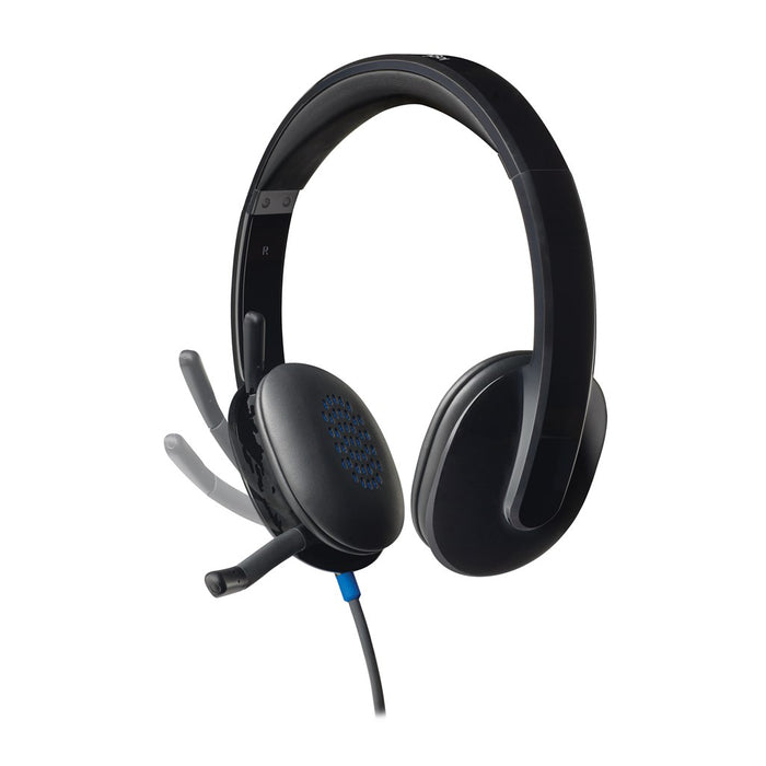 Logitech Headset H540 USB Headset Laser Tuned Drivers Comfortable Padding On Ear Audio Controls  Plug & Play