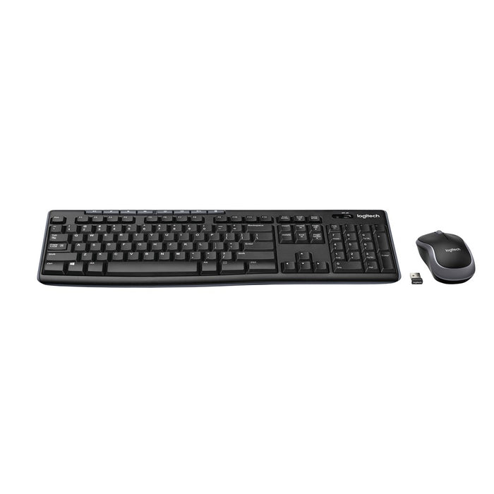 Logitech MK270, Wireless Keyboard and Mouse Combo, MK270 Nano USB receiver, Full size spill resistant keyboard 2.4GHz with a 10m range