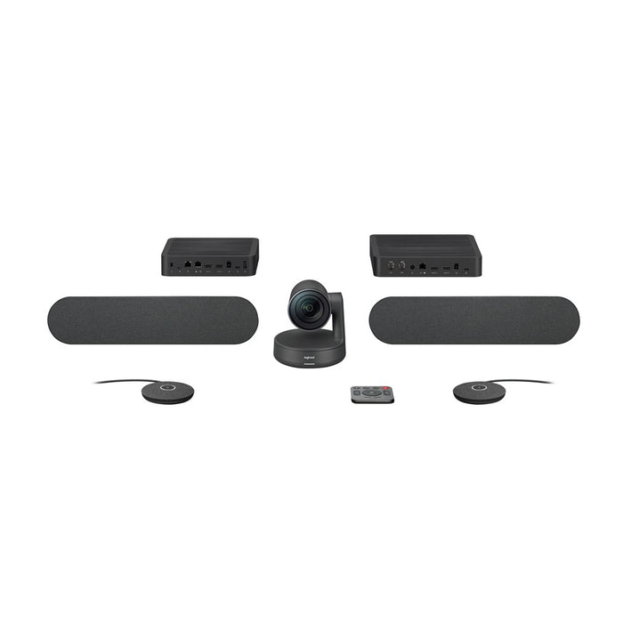 Logitech Vc Rally Plus System Hd Conference Cam 2x Speaker; 2x Mic Pod; Table Hub; Display Hub; 2x Power Supplies; Remote C