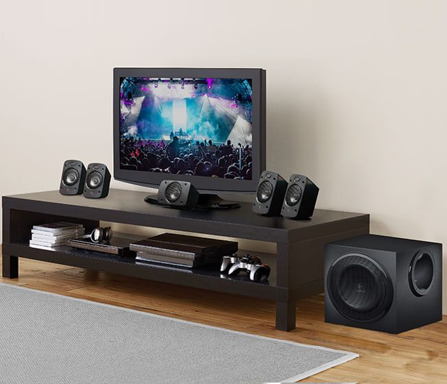 Logitech Desktop Speakers Z906, Surround sound, 5.1, 500W, Dolby Digital & DTS Decoding, Wall Mountable Wireless