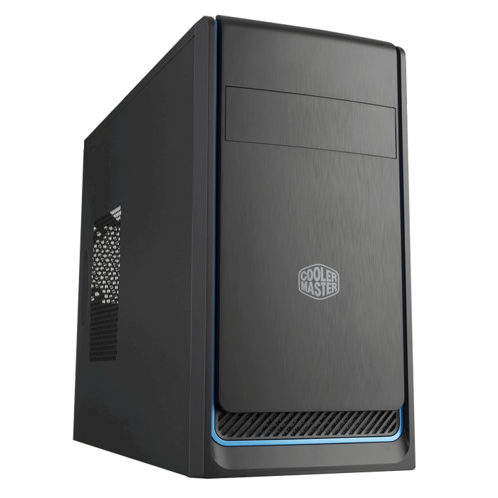 Cooler Master Master Box E300L, ATX Desktop Chassis, Black With Silver Trim