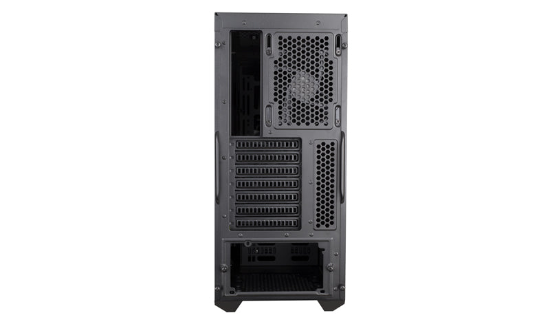 Cooler Master Masterbox K500L ATX Desktop Chassis, Black, Tempered Glass Windowed, 2x120mm RED LED Fans, 1x120mm Fan