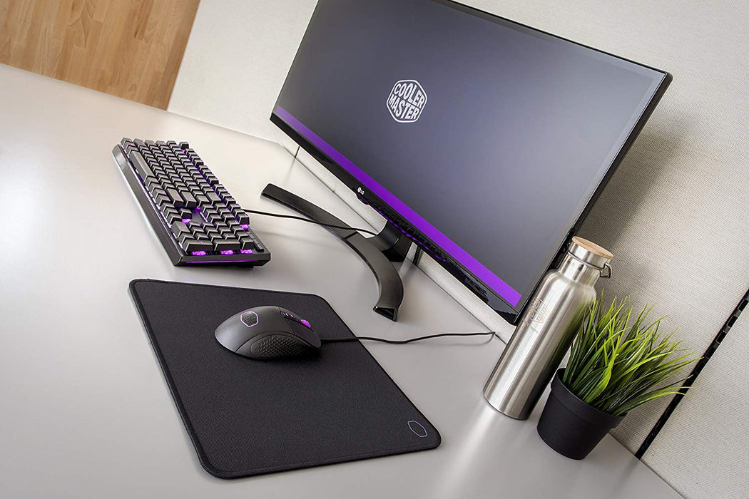 Cooler Master MP510 Gaming Mousepad, Glow in the Dark Logo, Anti-fray Stitching, Spill Resistant Cloth Surface, Medium