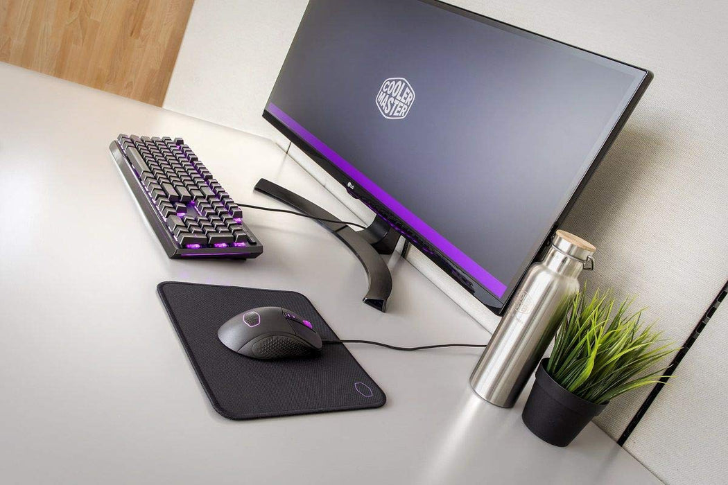 Cooler Master MP510 Gaming Mousepad, Glow in the Dark Logo, Anti-fray Stitching, Spill Resistant Cloth Surface, Small